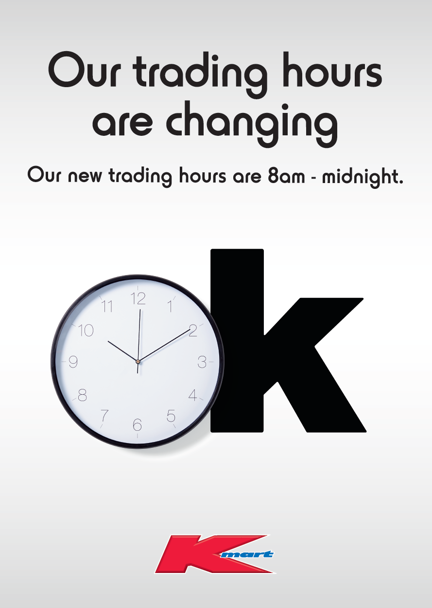 Summer Hill Shopping Centre – Kmart are changing their trading hours
